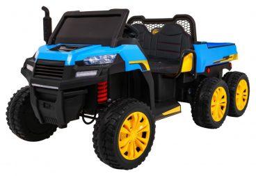 elektricky traktor farmer v modrej farbe