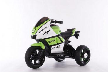 Elektrická motorka pre dieťa SUPER Motorcycle - zelená farba RAM