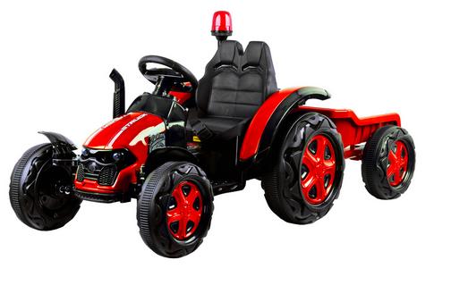Elektrický traktor s vlečkou, diaľkové ovládanie, maják, USB, MP3, odpružený