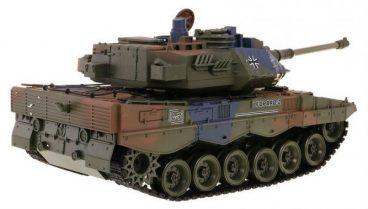 Diaľkovo ovládaný tank na guľky 2.4GHz – Mierka 1:18 LEOPARD 2 A6 s efektom dymu zvýfuku