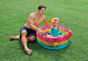 INTEX suchý bazén s loptičkami 50ks
