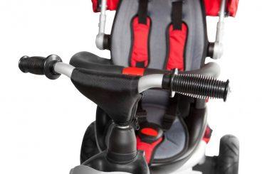 Adventure Trojkolka, penové kolesá červená