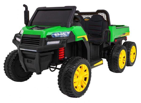 elektricky traktor farmer zeleny