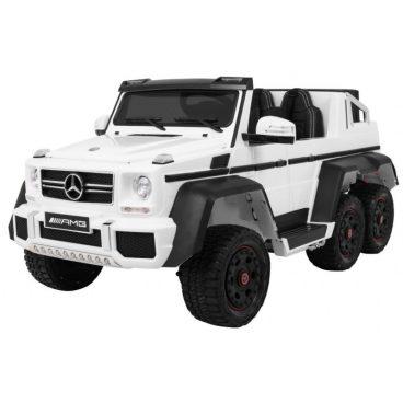 Elektrické autíčko Mercedes G63 6x6 biele,MP3-RAM