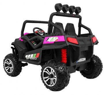 Elektrická štvorkolka pre deti 4x4 Grand Buggy LIFT, otváracie dvere,ružová farba,MP3-RAM